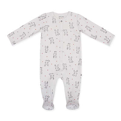 Petit Lem™ Bunny Footie in White