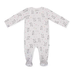 Petit Lem™ Size 6M Bunny Footie in White
