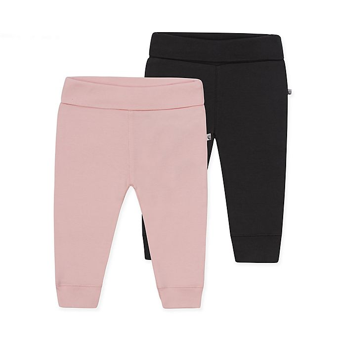 Alternate image 1 for Petit Lem™ 2-Pack Organic Cotton Leggings in Pink/Grey