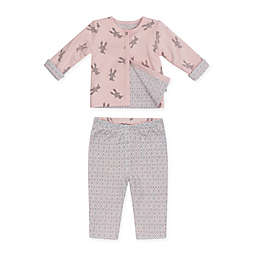 Petit Lem™ Size 3M 2-Piece Bunny Reversible Cardigan and Legging Set in Pink