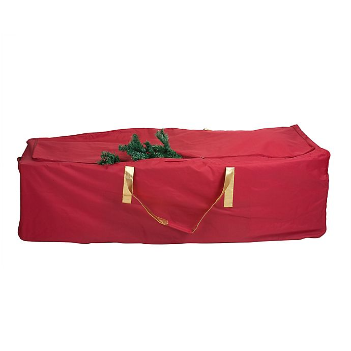 Simplify Christmas Tree Storage Bag With Wheels In Red Bed Bath