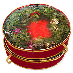 Simplify 24-Inch Wreath Bags in Red (Set of 2)