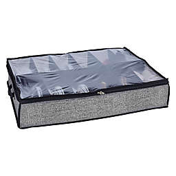 Simplify 12-Pocket Under-the-Bed Shoe Organizer in Black