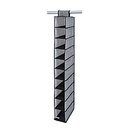 Simplify 10-Pocket Over-the-Door Hanging Shoe Organizer in Black