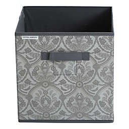 Laura Ashley® Almeida 12-Inch Square Collapsible Storage Cube in Grey