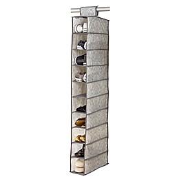 Simplify Non-Woven 10-Shelf Hanging Closet Shoe Organizer in White Marble
