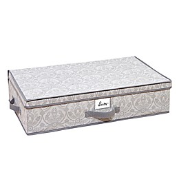 Laura Ashley® Almeida Non-Woven 28-Inch x 16-Inch Under-the-Bed Storage Box in Grey
