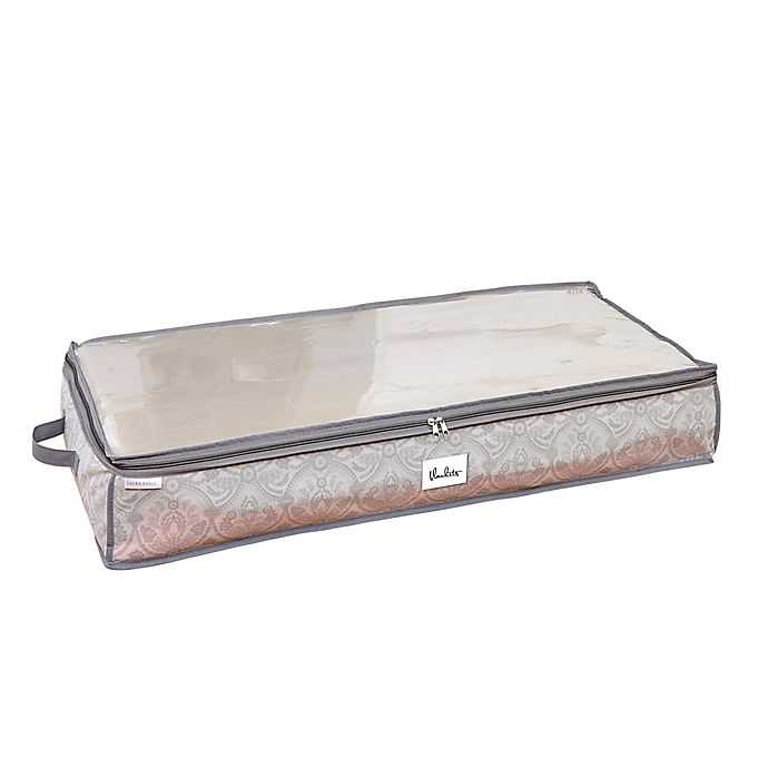 Alternate image 1 for Laura Ashley® Almeida Non-Woven 40-Inch x 18-Inch Under-the-Bed Storage Box in Grey