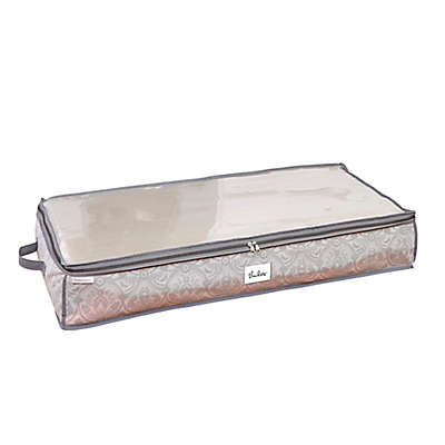 Laura Ashley® Almeida Non-Woven 40-Inch x 18-Inch Under-the-Bed Storage Box in Grey