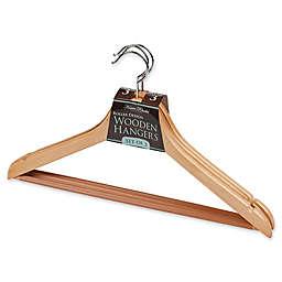 Simplify 3-Pack Roller Hangers in Brown
