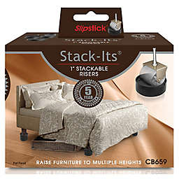 Slipstick Stack Its 1 Inch Adjule Furniture And Bed Lifts Set Of 8