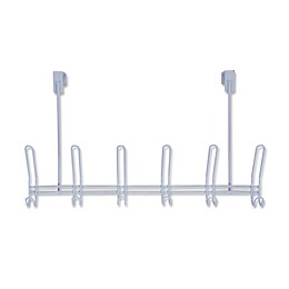 SALT™ 6-Hook Over-the-Door Rack in Grey