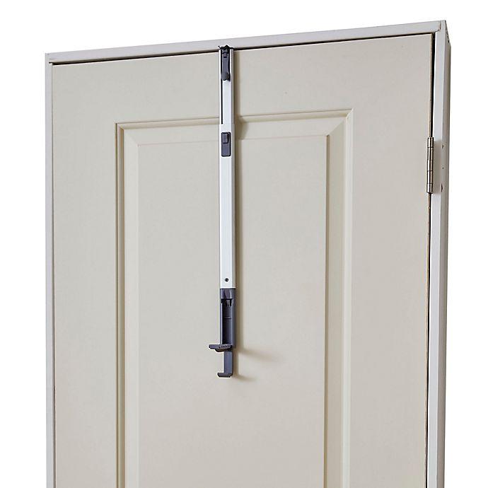 Alternate image 1 for BathSense Over-the-Door Adjustable Telescopic Valet Hook in Aluminum