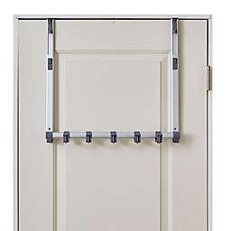 BathSense Over-the-Door Adjustable Telescopic Hook Rack in Aluminum