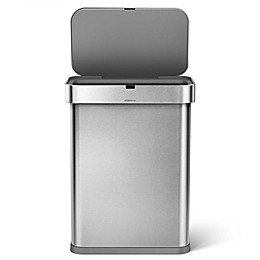 simplehuman® 58-Liter Rectangle Sensor Can with Motion & Voice Activation