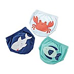 Baby Aspen® Under The Sea Size 0-6M 3-Pack Diaper Covers in Navy