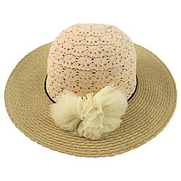 Rising Star™ Crochet Lace Floppy Hat in Natural