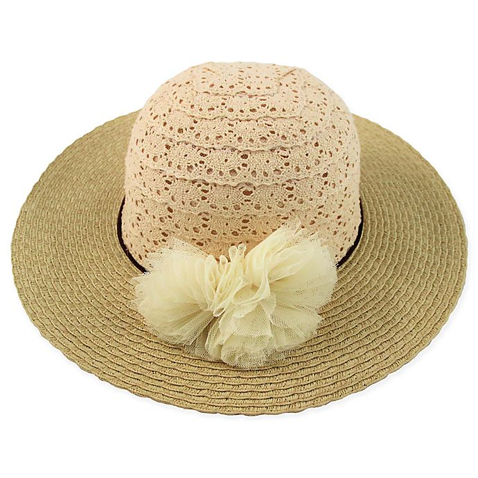 Alternate image 1 for Rising Star™ Crochet Lace Floppy Hat in Natural