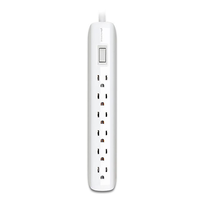 Alternate image 1 for 360 Electrical® Villa Power Strip with 6 Outlets in White