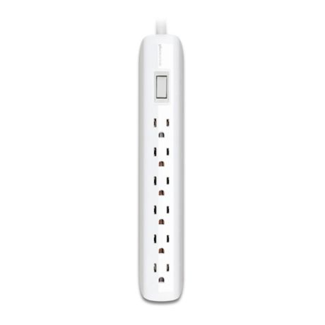 360 Electrical Villa Power Strip With 6 Outlets In White Bed Bath Beyond