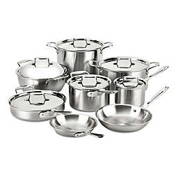 All-Clad d5® Brushed Stainless Steel 14-Piece Cookware Set