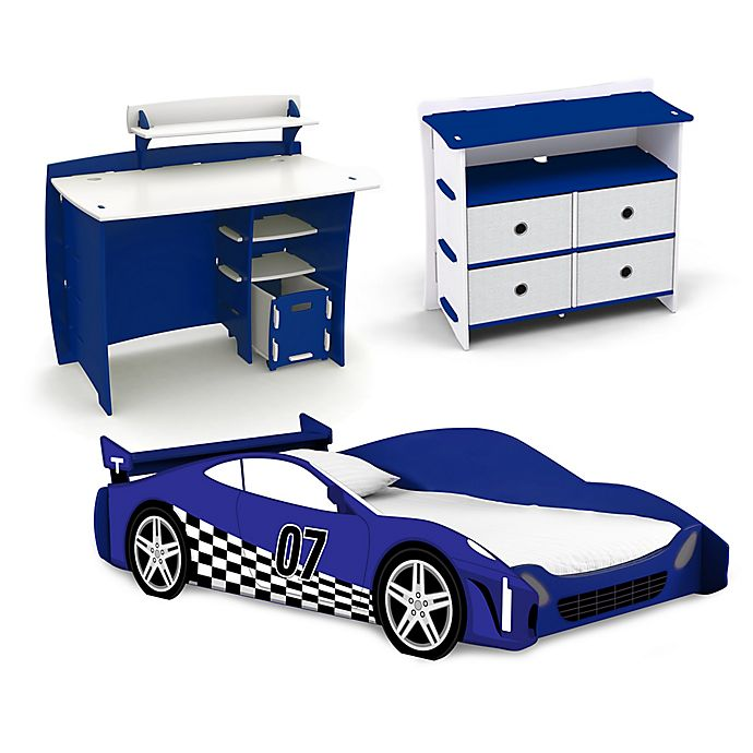 Alternate image 1 for Legare® Race Car Kids Furniture Collection in Blue/White