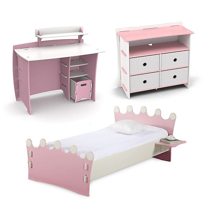 Alternate image 1 for Legare® Princess Kids Furniture Collection in Pink/White