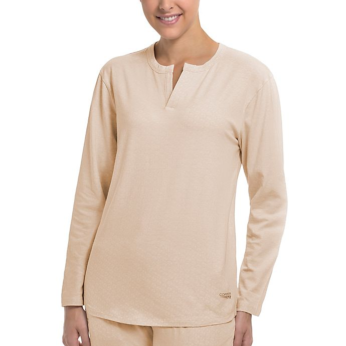 Alternate image 1 for Copper Fit® Replenish Recovery Mini Henley Sleep Shirt