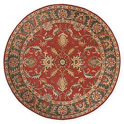 Surya Caesar Vintage-Inspired 8' Round Area Rug in Red/Grey
