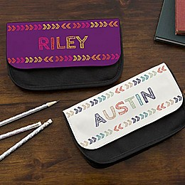 Stencil Name Pencil Case