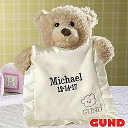Gund® Embroidered Peek-A-Boo Bear in Tan