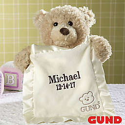 Gund® Embroidered Peek-A-Boo Bear in Tan