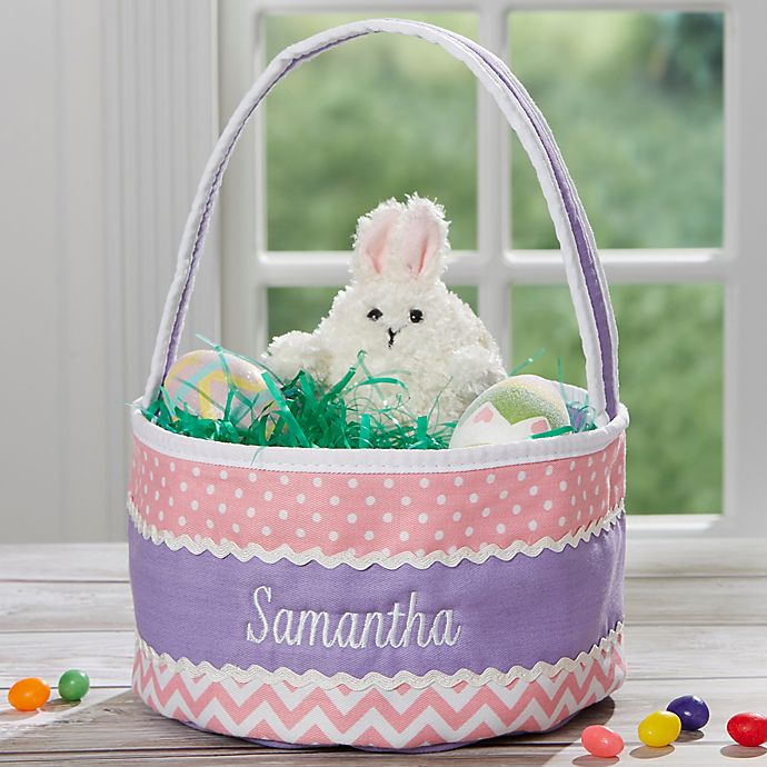 Alternate image 1 for Eastern Fun Embroidered Soft Basket