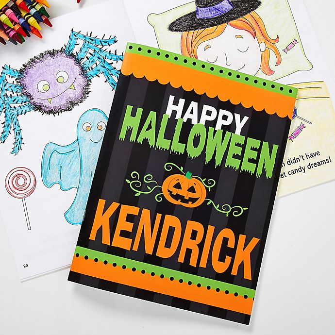 Alternate image 1 for Happy Halloween Coloring Activity Book & Crayon Set