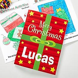 Merry Christmas Coloring Activity Book & Crayon Set
