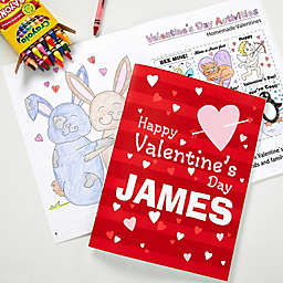 Happy Valentine's Day Coloring Book & Crayon Set