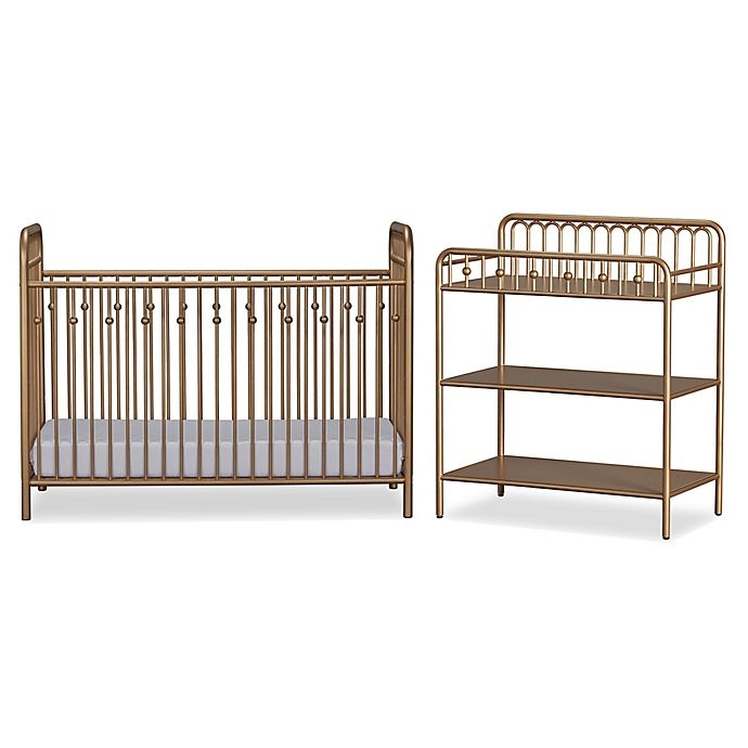 4c89c5cc3beb View a larger version of this product image. Click to Zoom. Alternate image  1 for Little Seeds Monarch Hill Ivy Metal Crib and Changing Table ...