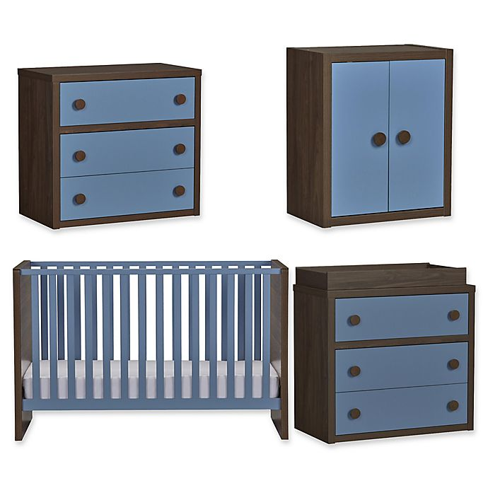 Alternate image 1 for Sierra Ridge Terra Nursery Furniture Collection in Walnut/Blue
