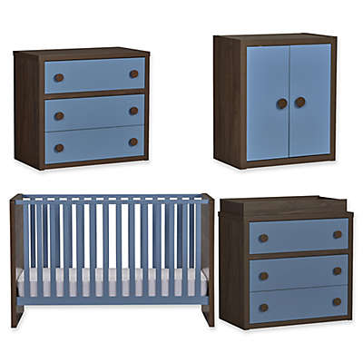 Sierra Ridge Terra Nursery Furniture Collection in Walnut/Blue