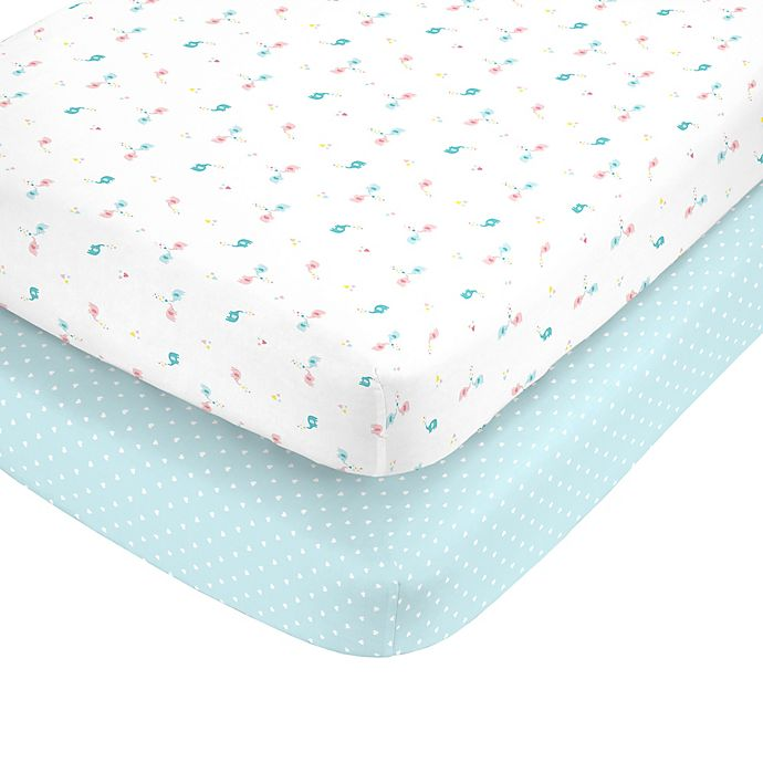 Alternate image 1 for carter's® Ellie Toss Fitted Crib Sheets (Set of 2)