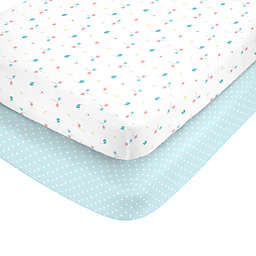 carter's® Ellie Toss Fitted Crib Sheets (Set of 2)