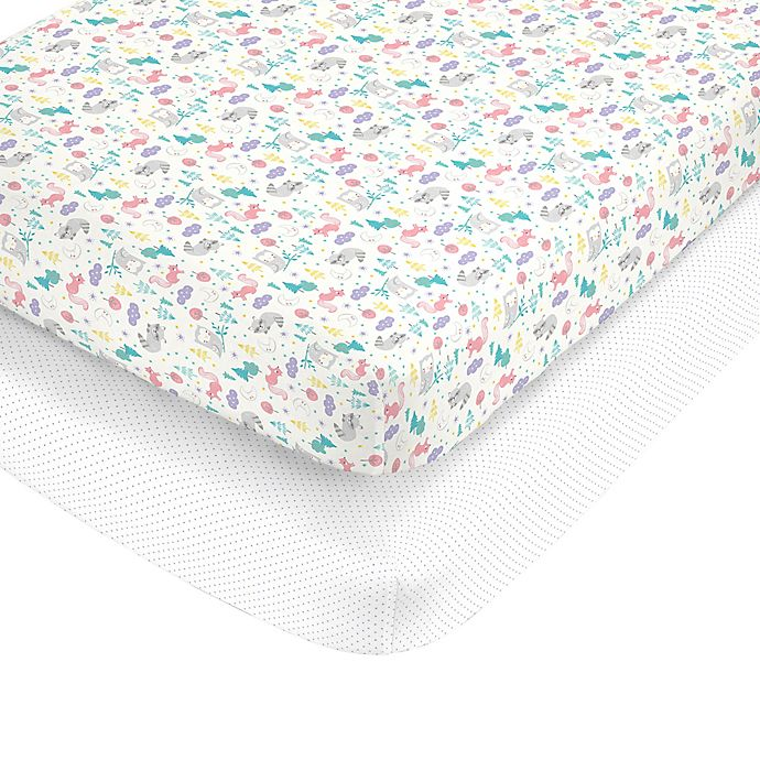 Alternate image 1 for carter's® Woodland Fitted Crib Sheets (Set of 2)
