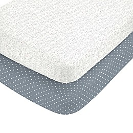 carter's® Critter Line Fitted Crib Sheets (Set of 2)