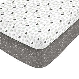 carter's® Grey Sheep Fitted Crib Sheets (Set of 2)