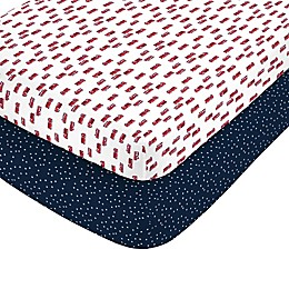 carter's® Fire Truck Fitted Crib Sheets (Set of 2)
