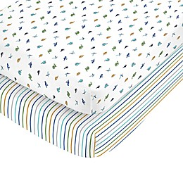 carter's® Dino Toss Fitted Crib Sheets (Set of 2)