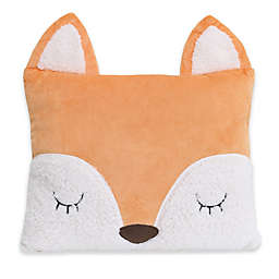 Little Love by NoJo® Velboa Fox Throw Pillow in Orange