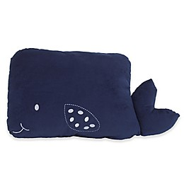 Little Love by NoJo® Whale Throw Pillow in Navy