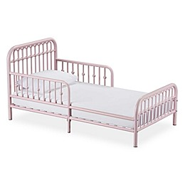 Little Seeds Monarch Hill Ivy Metal Toddler Bed in Pink