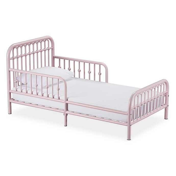 Alternate image 1 for Little Seeds Monarch Hill Ivy Metal Toddler Bed in Pink